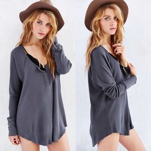 Truly Madly Deeply Grey Boyfriend Henley Top S